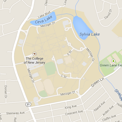 Map of Hausdoerffer & Phelps Hall